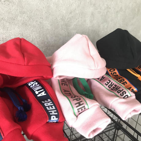 ORIGINAL sporty hoodie . [ red   L・XL・HPS・HPM・HPL ]
