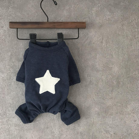 PET star rompers ♣︎ blue