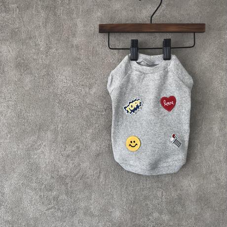 mini wappen shirt . [ gray ]