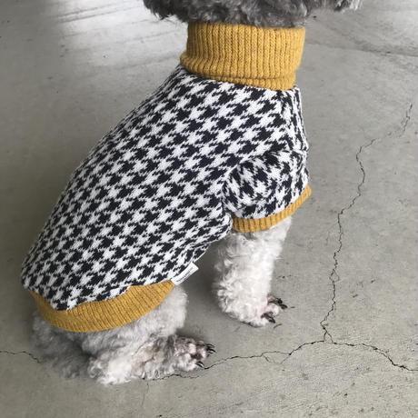 ORIGINAL tweed柄 turtle knit .[  yellow XS , S , M ]
