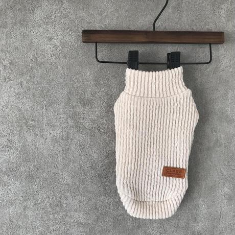 PET Highneck knit . [ beige ]
