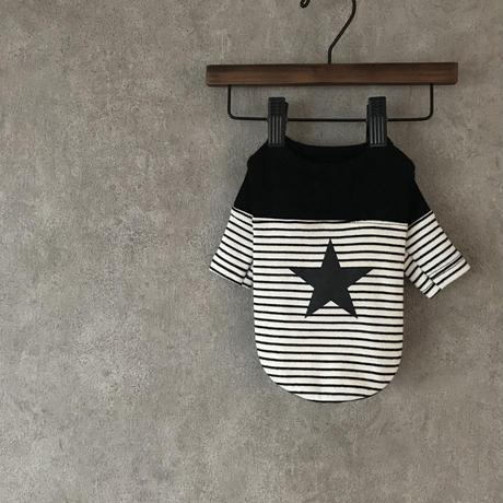 star border shirt . [ black ]