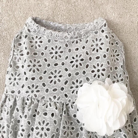 flower lace one-piece .