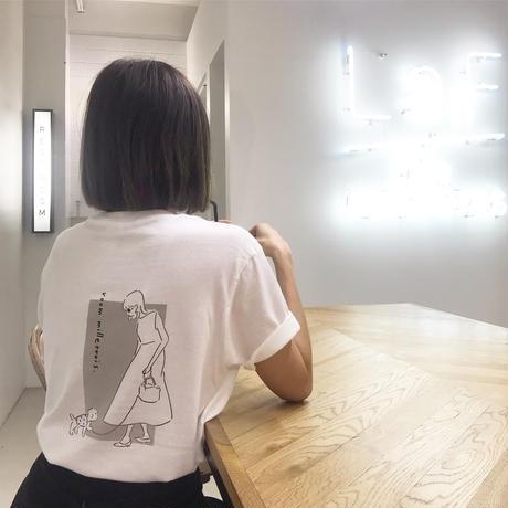 ORIGINAL illust T- shirt . [ Cherie シェリー ]