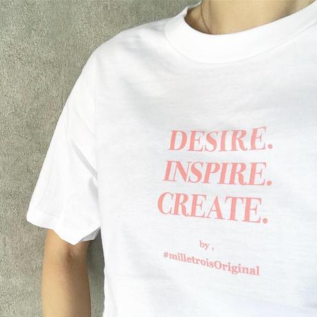ORIGINAL LOGO T-shirt . [ coral pink ]