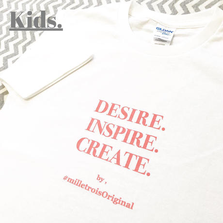 Kids☆ORIGINAL LOGO T- shirt . [ coral ]