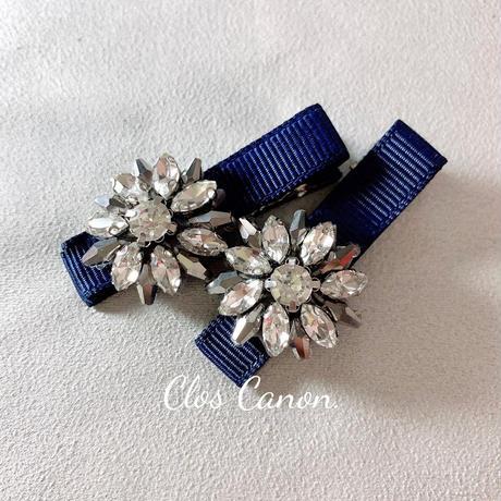 【即納】Flower bijour embroidery hair clip