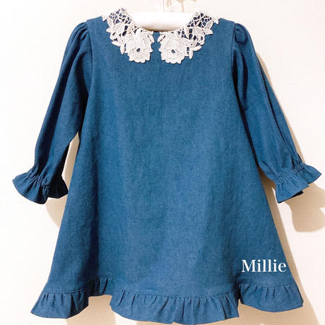 Kids Antique Lace Collar Dress