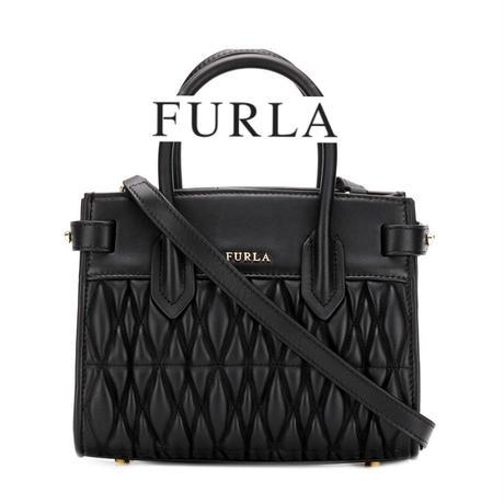 FURLA ピンコメタ キルティング ハンドバッグ