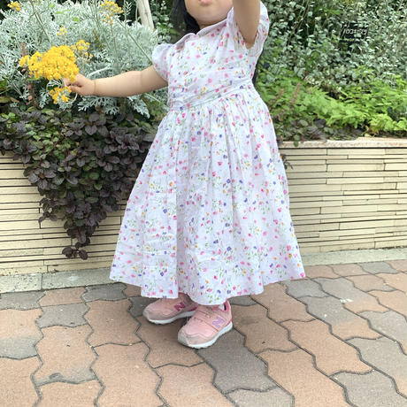Kids English Flower Garden Dress