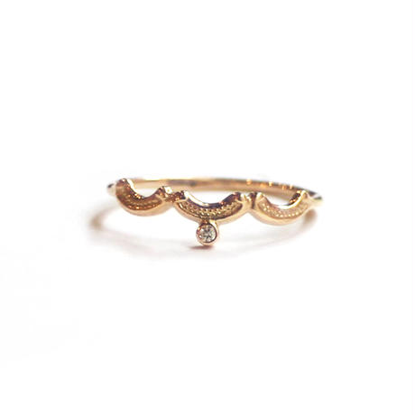 Tea spoon layered ring / 003