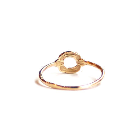 Tea spoon layered ring / 006