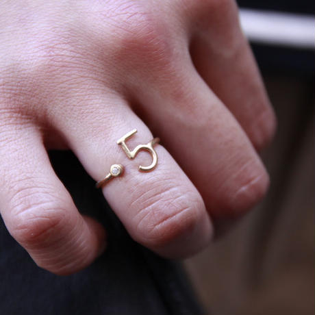 millieto reine lucky number ring #5