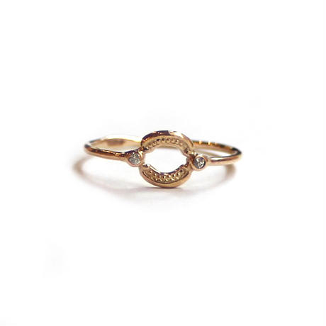 Tea spoon layered ring / 005