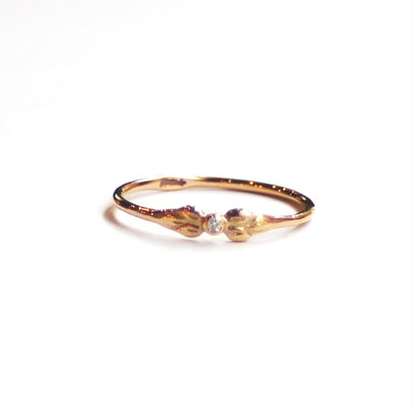 Tea spoon layered ring / 004