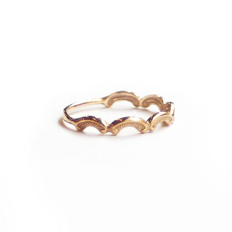 Tea spoon layered ring / 002