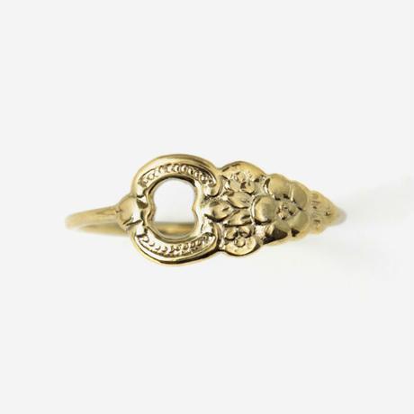 millieto Antique tea spoon ring / s