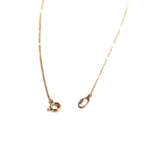 Tea spoon diamond necklace / 002