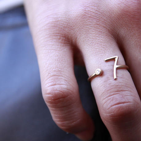 millieto reine lucky number ring #7