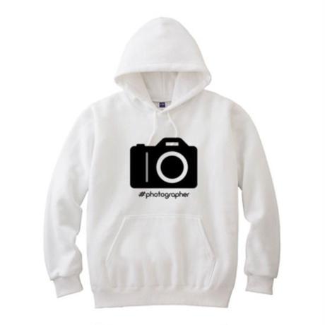 photographerパーカー白