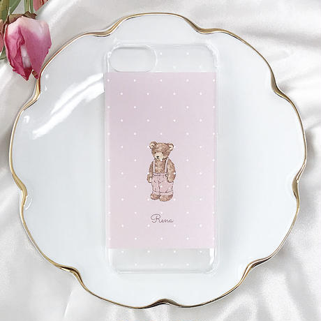 33【Rena】 Fancy Bear Rabbit♡【クリアハードケース】iPhone6/6s/7/8共通