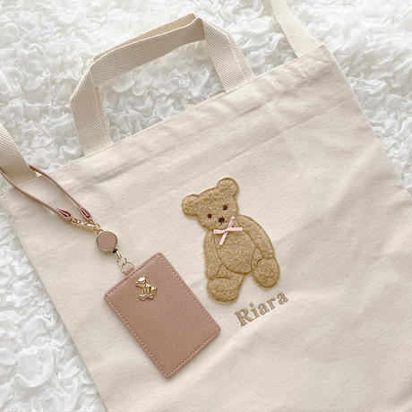 Teddy Bear Pass Cace♡リール付きパスケース【即納】