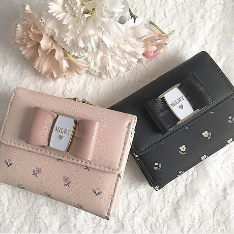 【リボン付き】Flower❁Mini Wallet♡ミニ財布