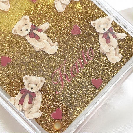 【ネーム入り】Little bear♡リトルベア【グリッターケース】G03