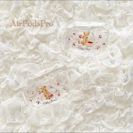 【ネーム入り】Ribbon Fruit Bear【Air Podsケース】