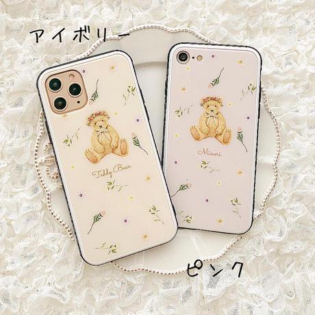 【ネーム入り】Driedflower Bear♡【強化ガラスケース】K26
