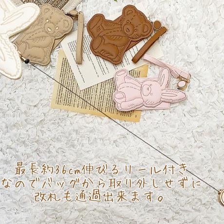 Die cut Pass Cace♡リール付きパスケース【即納】