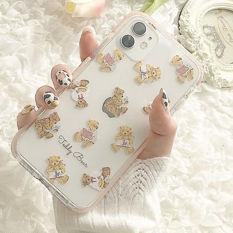 【ネーム入り】 Hobby Bear♡【耐衝撃クリアケース】B26