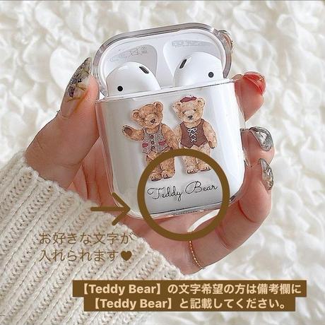 【ネーム入り】Teddy Bear【Air Podsケース】