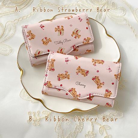 【ネーム入り】Ribbon Fruit Bear キーケース♡