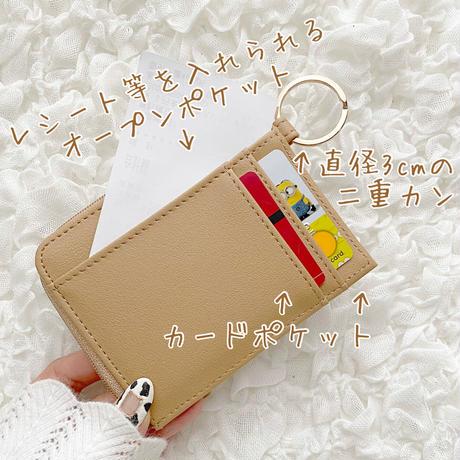 Teddy Bear 型押し Fragment Case♡フラグメントケース 財布【即納】