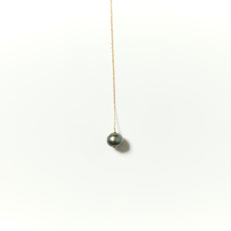 K10  ロングパールネックレス(ブラックパール)