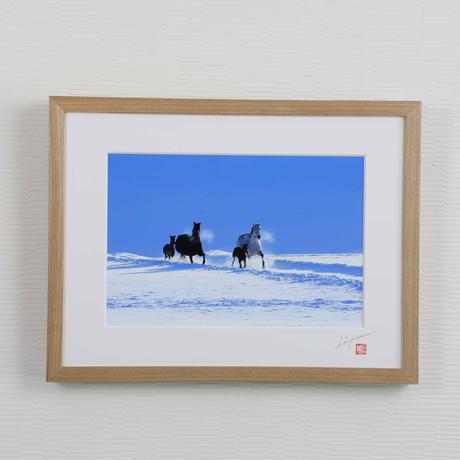 Kawai 厚高額装A4/ N(雪原)