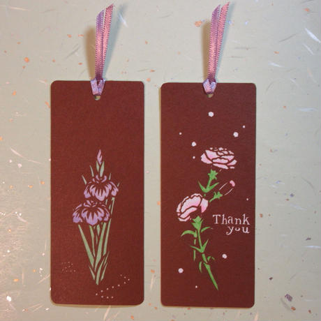 切り絵しおり 母の日セット 「カーネーション・花しょうぶ」
