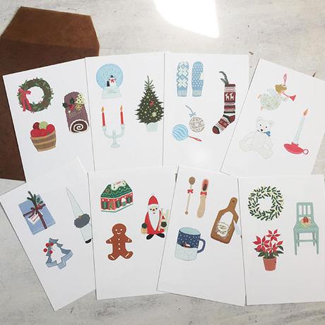 Christmas 雑貨ポストカードセット2018