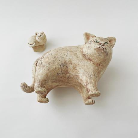 貯金箱(白猫)