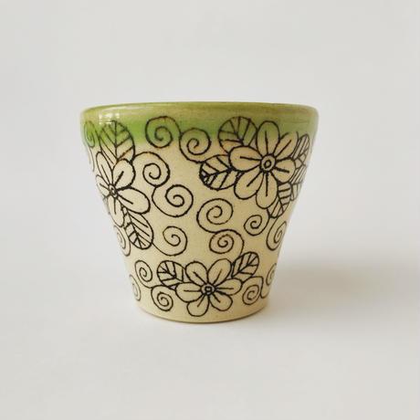 カラフルフリーカップ(花文様)