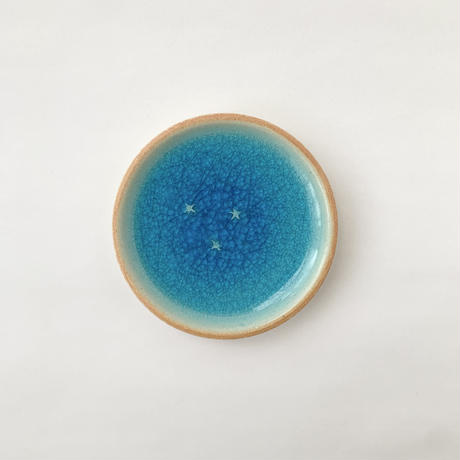碧(星のしずく)3寸皿