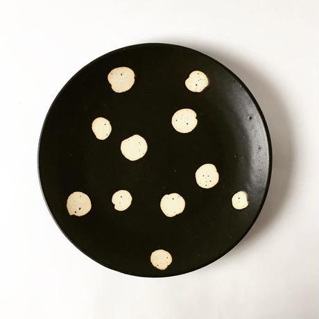 モノクロ皿(水玉)