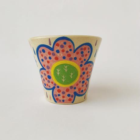 色絵付けフリーカップ(花)