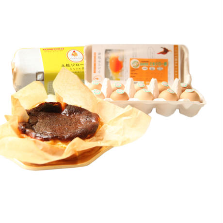 バスクチーズケーキと土佐ジロー卵(20個)セット