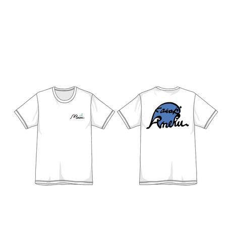 "373 Kawaki wo Ameku T-Shirt ""BILLOW""(WHITE)"