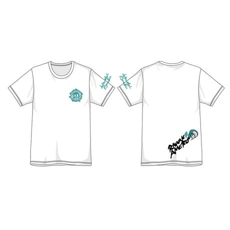 """373 Kawaki wo Ameku T-Shirt """"EVER GREEN""""(WHITE)"""