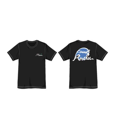 """373 Kawaki wo Ameku T-Shirt """"BILLOW""""(BLACK)"""