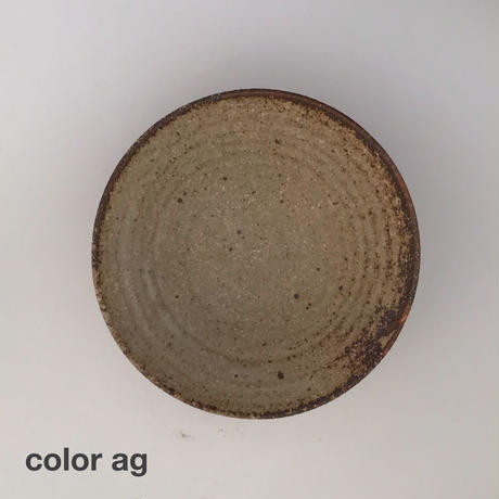 m.g001  高台平鉢 ag(灰釉)
