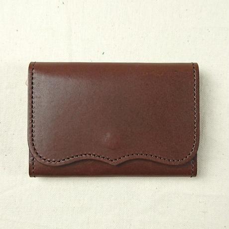 Kc's / ケーシーズ 栃木レザー カードケース プレート 2 brown [KCC002B]